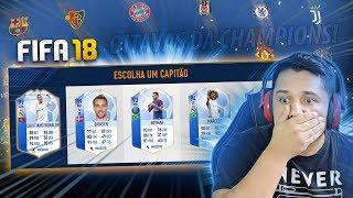 PASSEI MAL!! DRAFT DAS OITAVAS DA CHAMPIONS!! FIFA 18 FUT DRAFT!! 🔥😡