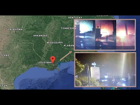Mile wide UFO with multi colored lights causes electrical damage and destruction over Louisiana