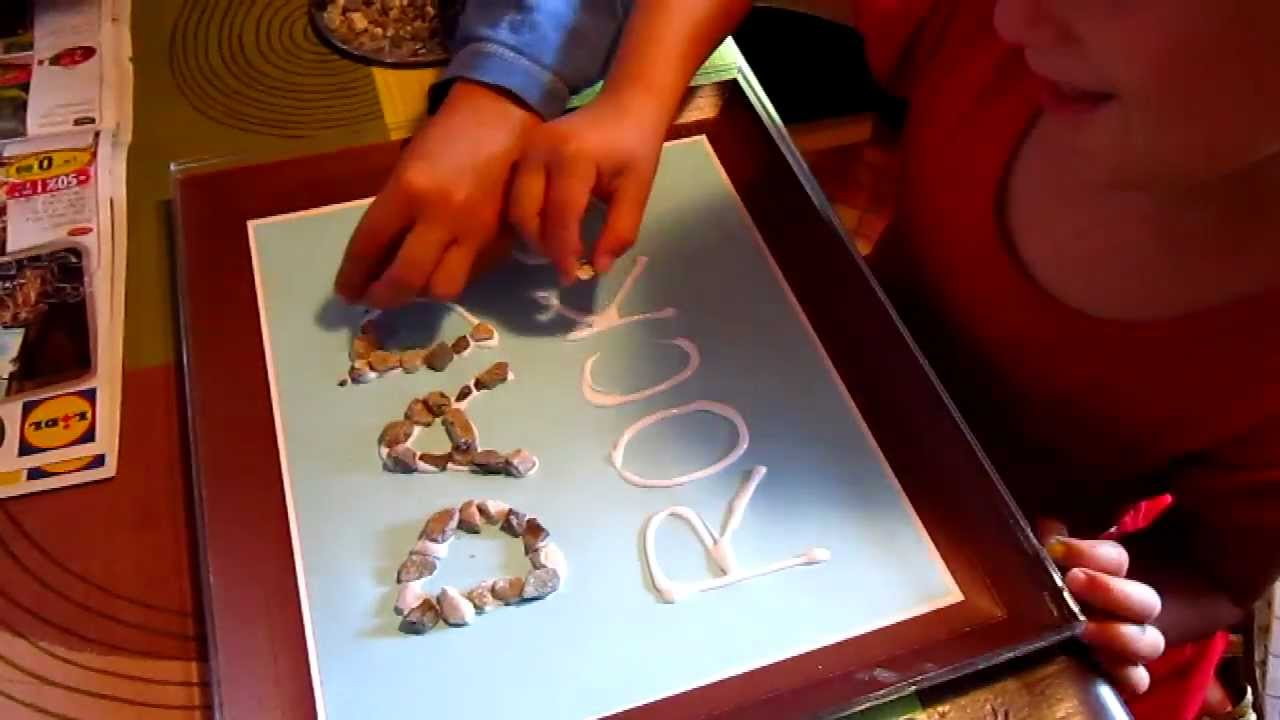 Arts And Crafts Project To Make For Fathers Day A Dad Rocks Poster With Small Pebbles Youtube