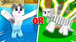 EXTREME Would You Rather vs My Cat! - Minecraft Challenge