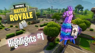 FLYING LLAMA!? - Fortnite Battle Royale Highlights #1 (Best plays and funny moments)