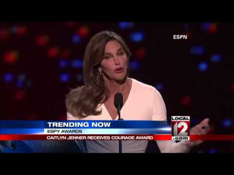 Emotional Caitlyn Jenner accepts Ashe Courage Award at ESPYs