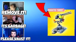 FORTNITE PROS ARE OUTRAGED OVER *NEW* MOUNTED TURRETS! - Fortnite Funny Moments #23