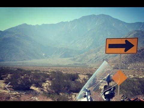 Desert alluvial fan - softypapa California Adventures - BMW R 1150 GSA