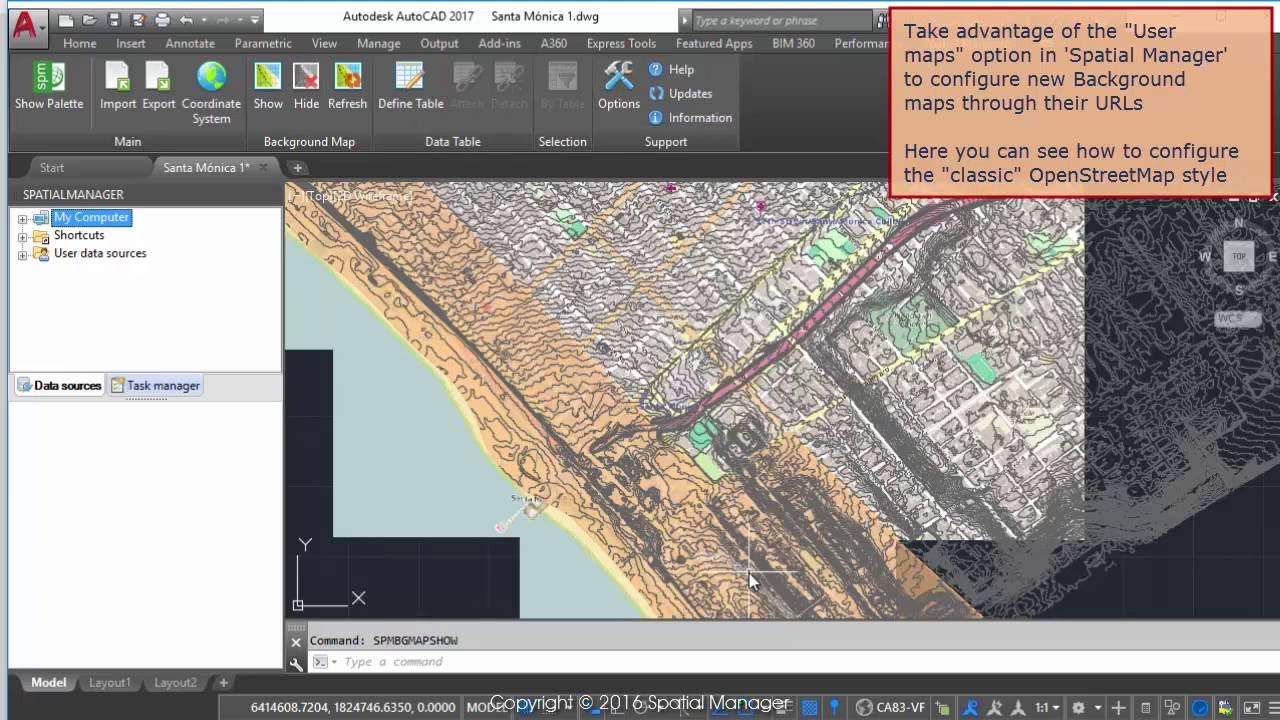OpenStreetMap classic Background map in AutoCAD - Spatial Manager Blog