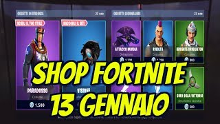Today's SHOP 13 JENNAIO on FORTNITE: new PARADOSSO and TRINA skins