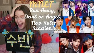 TXT(투모로우바이투게더) - Run Away, Angel or Devil, New Rules / Welcome Back Show (REACTION!!)