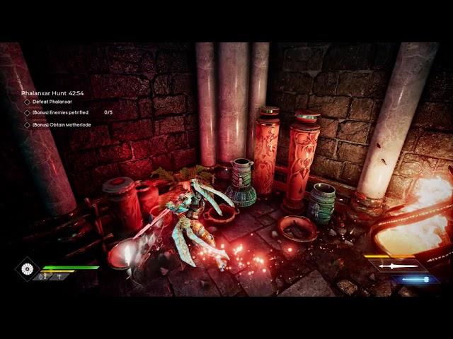 Godfall PC gameplay - Phalanxar Hunt