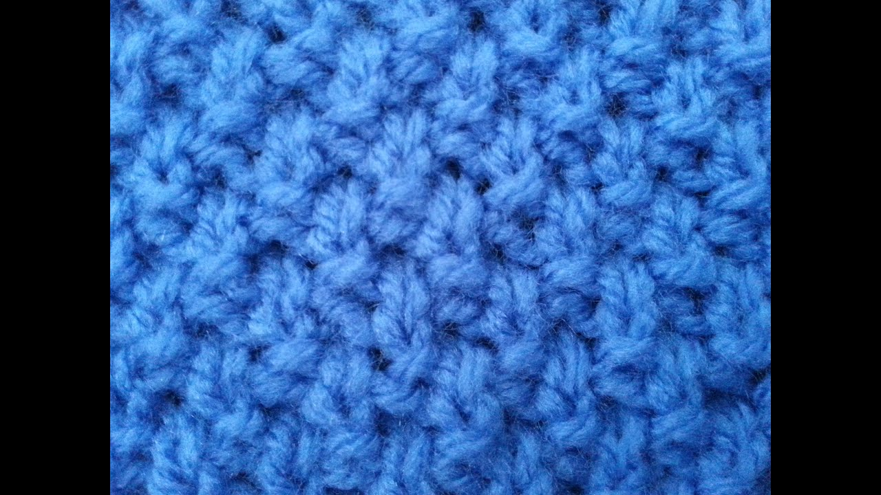 Irish Moss Stitch | Knitted Pattern - YouTube