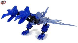 Transformers 4 Age Of Extinction: Construct-bots Dinobots Strafe Toy Review, Hasbro