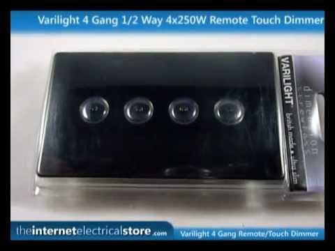 Varilight 4 Gang 12 Way 4x250W RemoteTouch Dimmer Light Switch