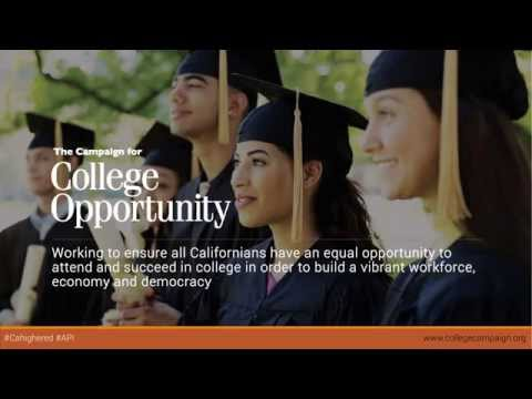 State of Higher Ed in CA for Asian Americans, Native Hawaiians and Pacific Islanders