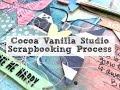 Scrapbooking Process #235 Cocoa Vanilla Studio / Hello Love
