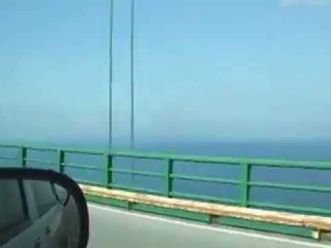 Crossing the Mackinac Bridge - Michigan Suspension Bridge
