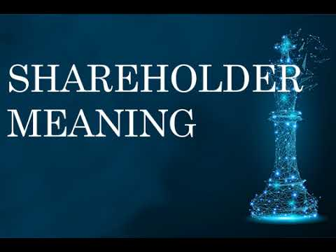 Shareholder meaning ,Economy, Stock