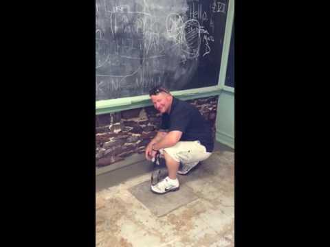 Head maintenance at Carnegie Mellon library observing AJ waterproofing's work