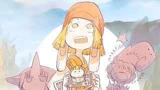 【お絵かき実況】ニコの旅Ⅴ①/BD Drawing:Flying Princess【バンド・デシネ】