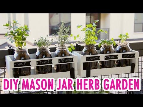 DIY Mason Jar Herb Garden- HGTV Handmade