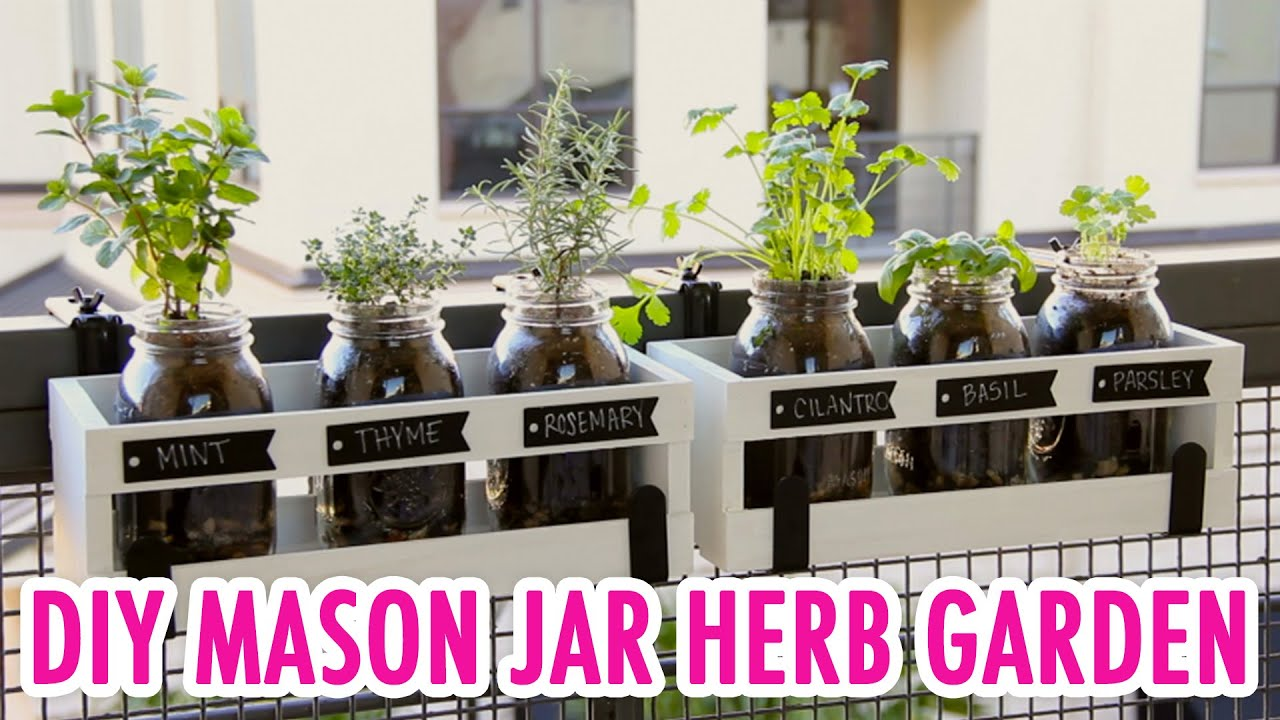 Indoor Herb Garden Diy Mason Jar Herb Garden Hgtv Handmade  Youtube
