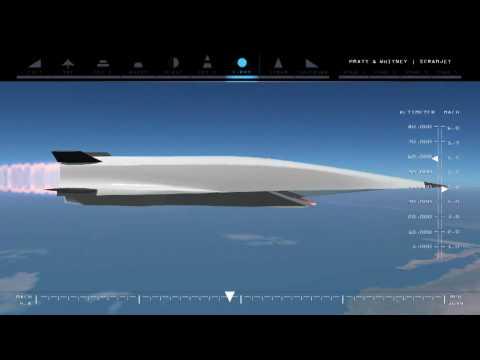 X-51 Waverider Scramjet hypersonic technology from Pratt Whitney