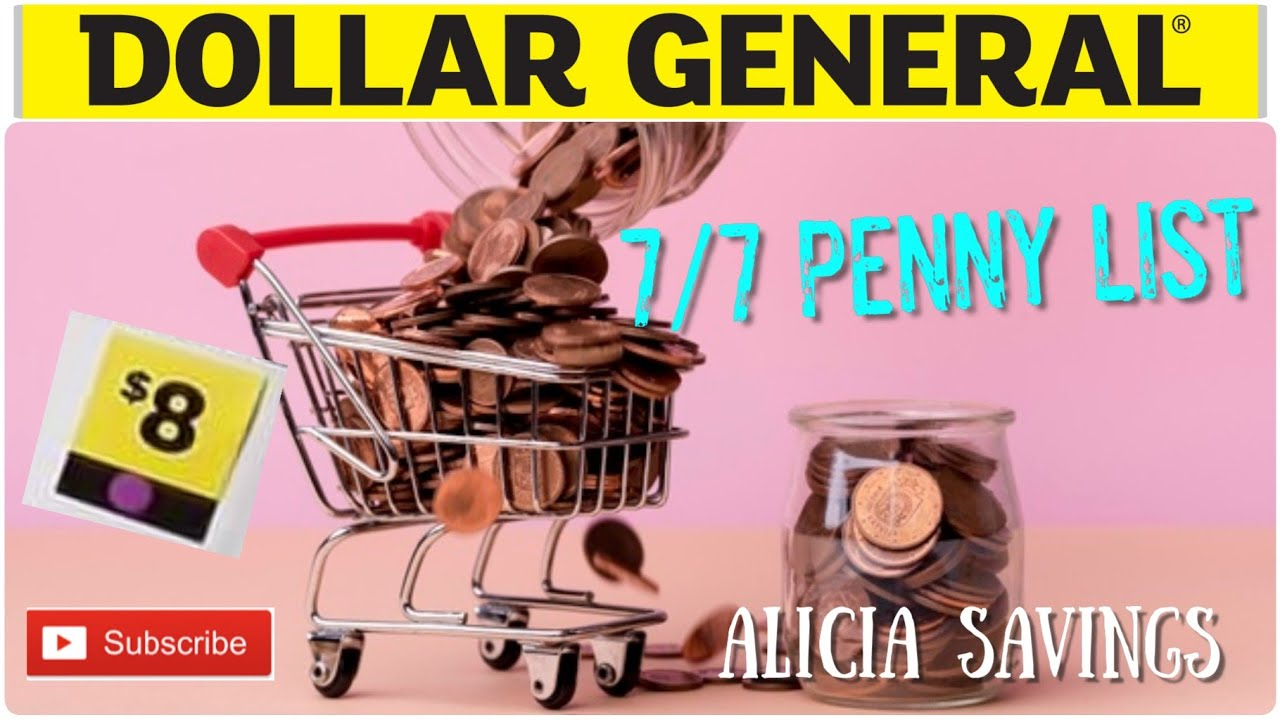 7/7 Penny List !! Dollar General PENNY SHOPPING LIST for Tuesday July 7, 2020