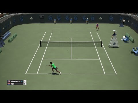 AO Tennis - Venus Williams vs Arantxa Rus - PS4 Gameplay