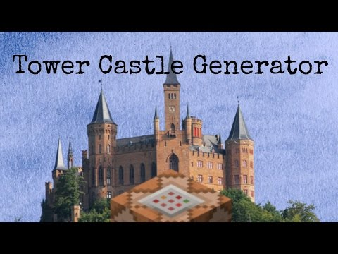 THE AMAZING TOWER CASTLE | Minecraft Command Showcase: Tower Castles