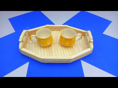 How to make Tea Tray at home || Popsicle Sticks Craft Ideas