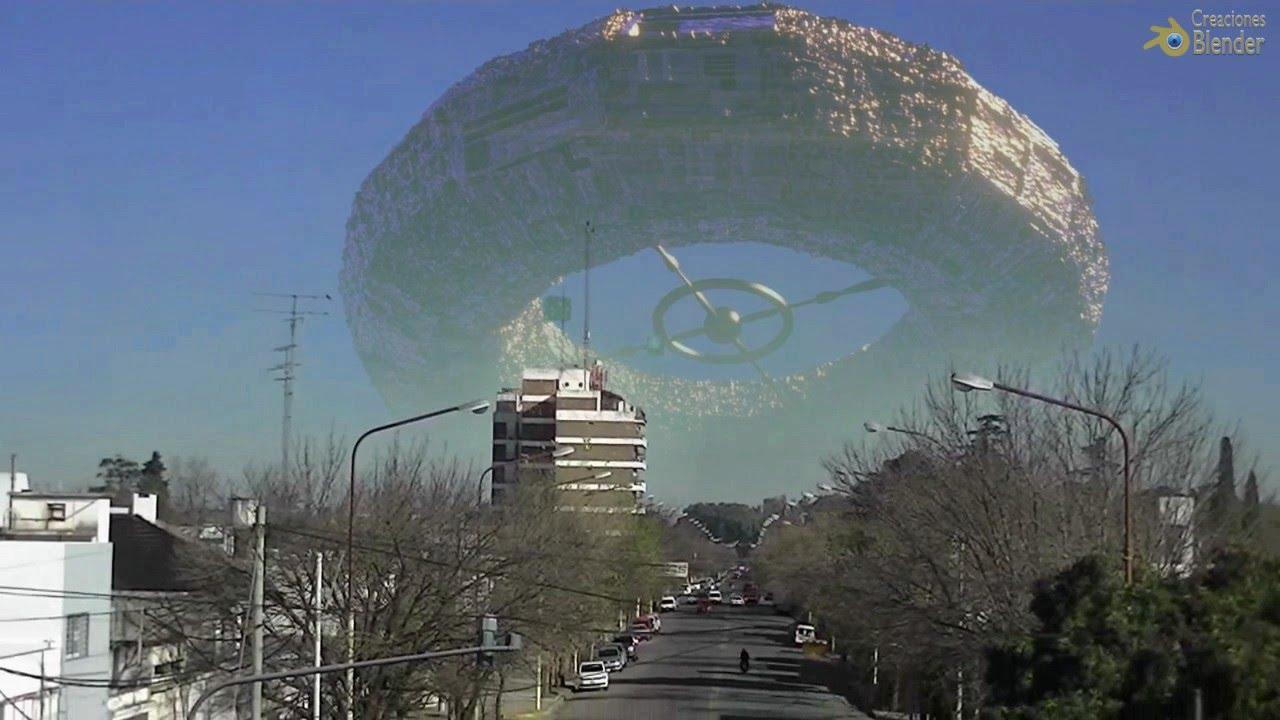 Cómo se vería una invasión Alienígena  /  Invasion of the Borgs Cubes / Blender