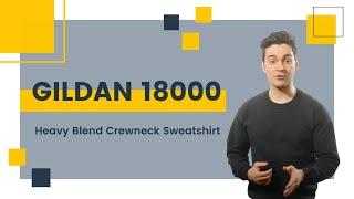 Gildan 18000 Heavy Blend Crewneck Sweatshirt | Blankapparel.ca