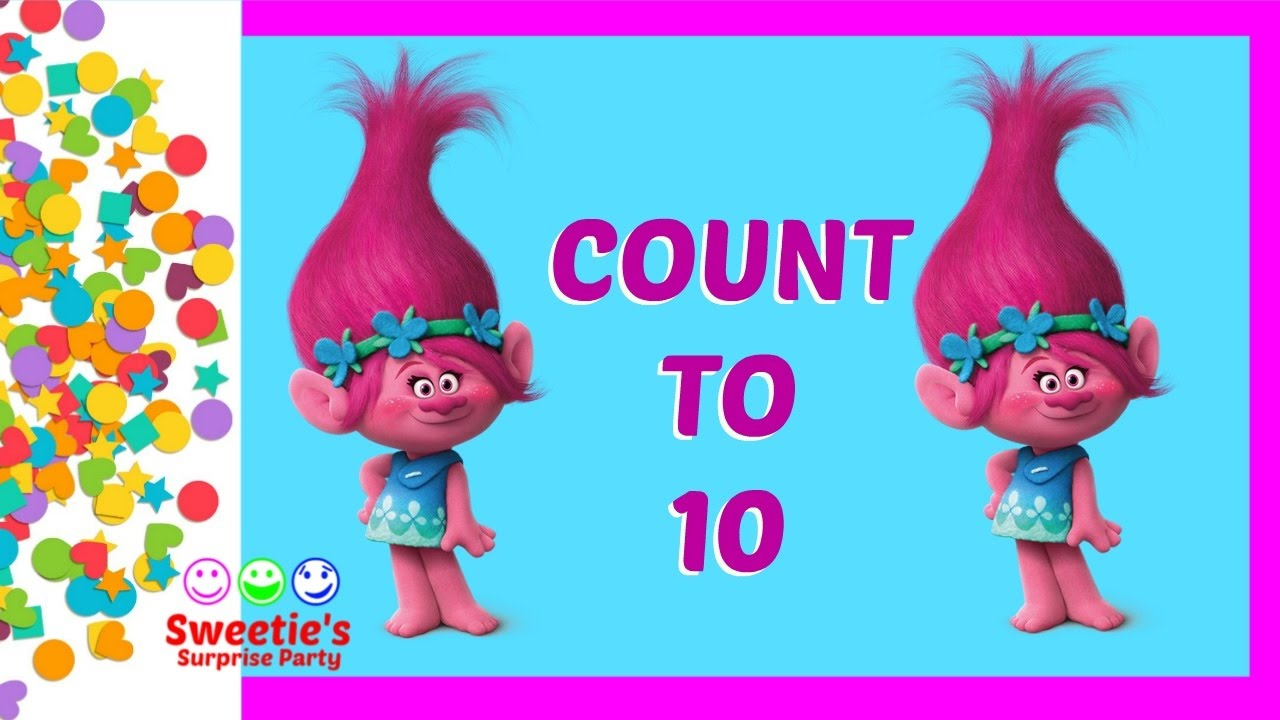 Learn to Count 1 to 10 with Poppy the Troll | Learn Numbers 1 - 10 ...