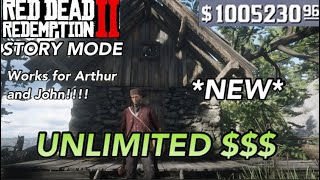 UNLIMITED MONEY GLITCH ON RED DEAD REDEMPTION 2 (Story Mode)