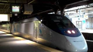Amtrak Acela Express with Horn Action!!!