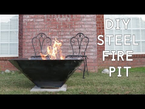 How to Make an Outdoor Steel Fire Pit | Modern Builds | EP. 73