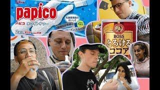 外国人が東京で日本のアイスとドリンク試食!Foreign people trying Japanese sweets