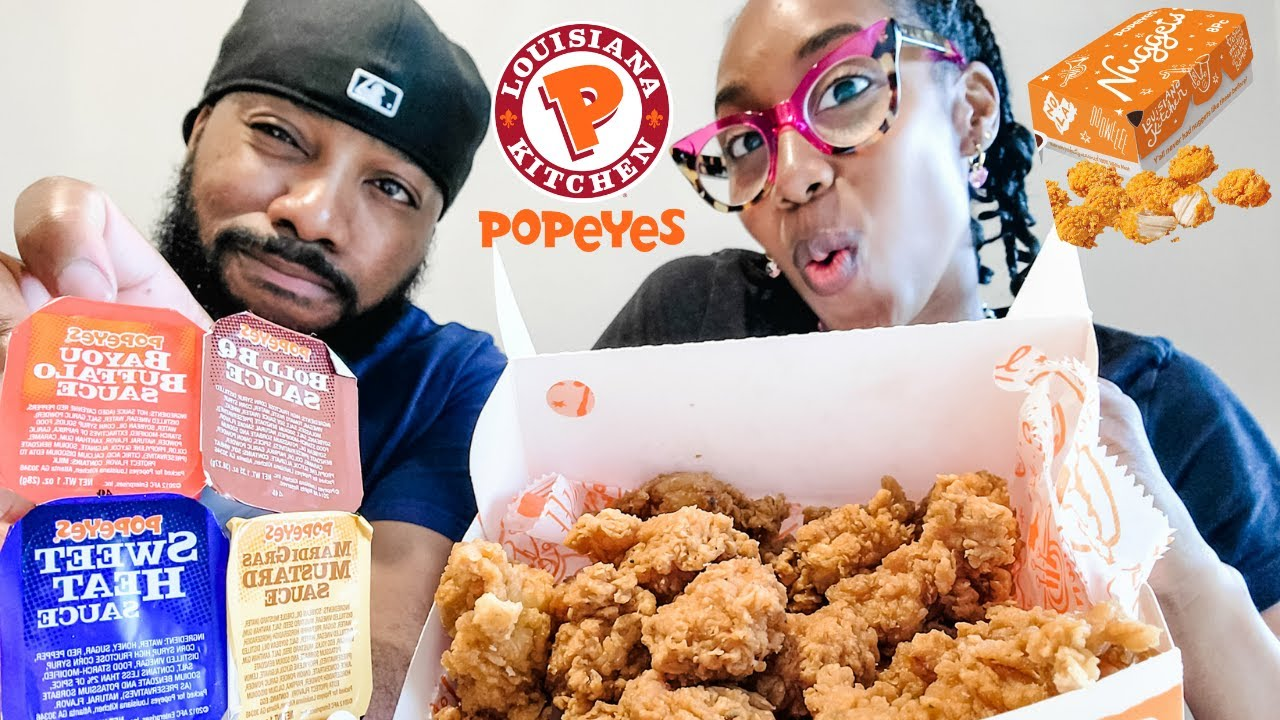 Popeyes Chicken Nuggets   Our First Time Trying Them   ChowDownWithTheSharpes