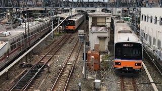 平日朝の東武東上線成増駅(字幕入り)