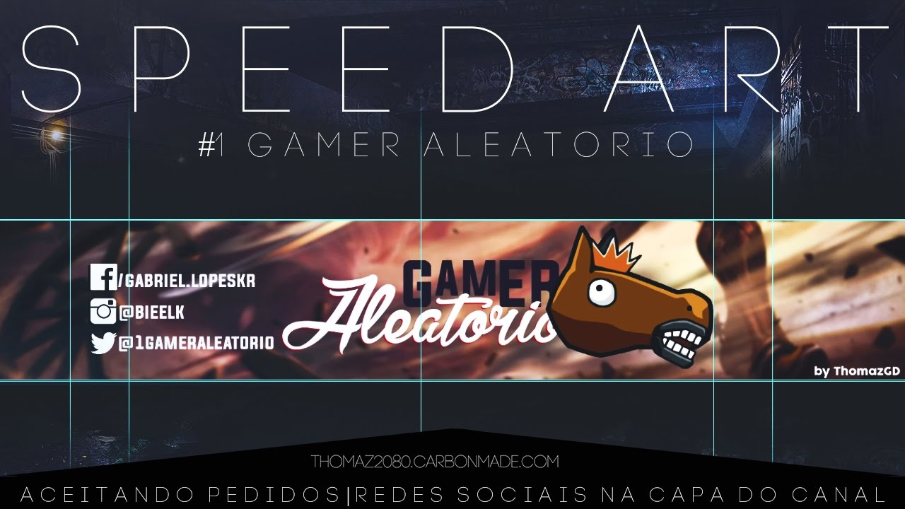 1 Speedart Um Gamer Aleatorio Youtube