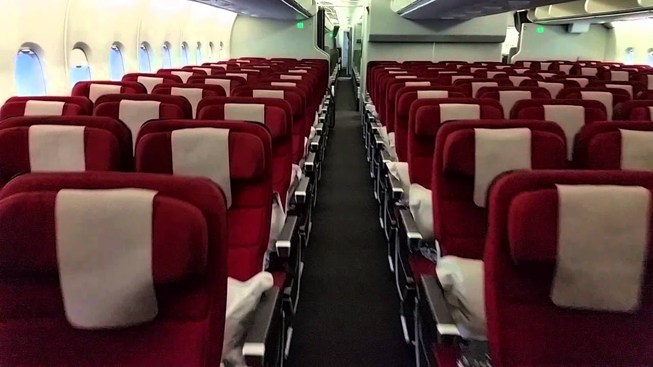 qantas a380 cabin walkthrough - main deck