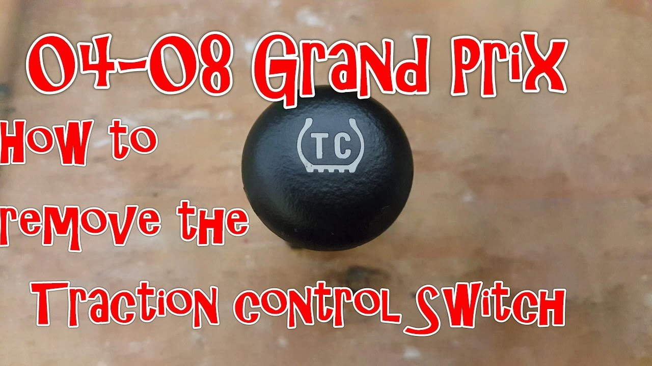 medium resolution of 04 08 pontiac grand prix how to remove the traction control switch