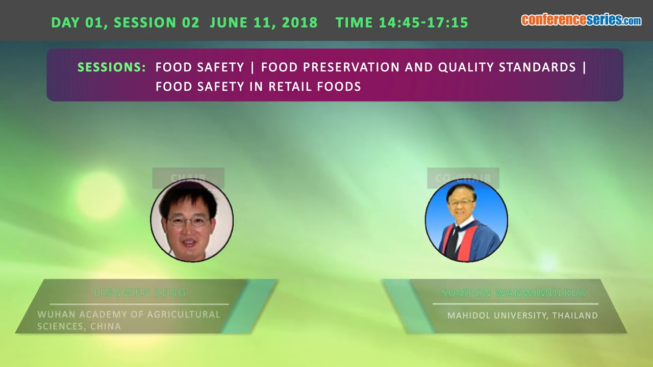 8th International Conference on Food Safety & Regulatory Measures