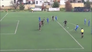 Tough Fight In Greece On A Football Match