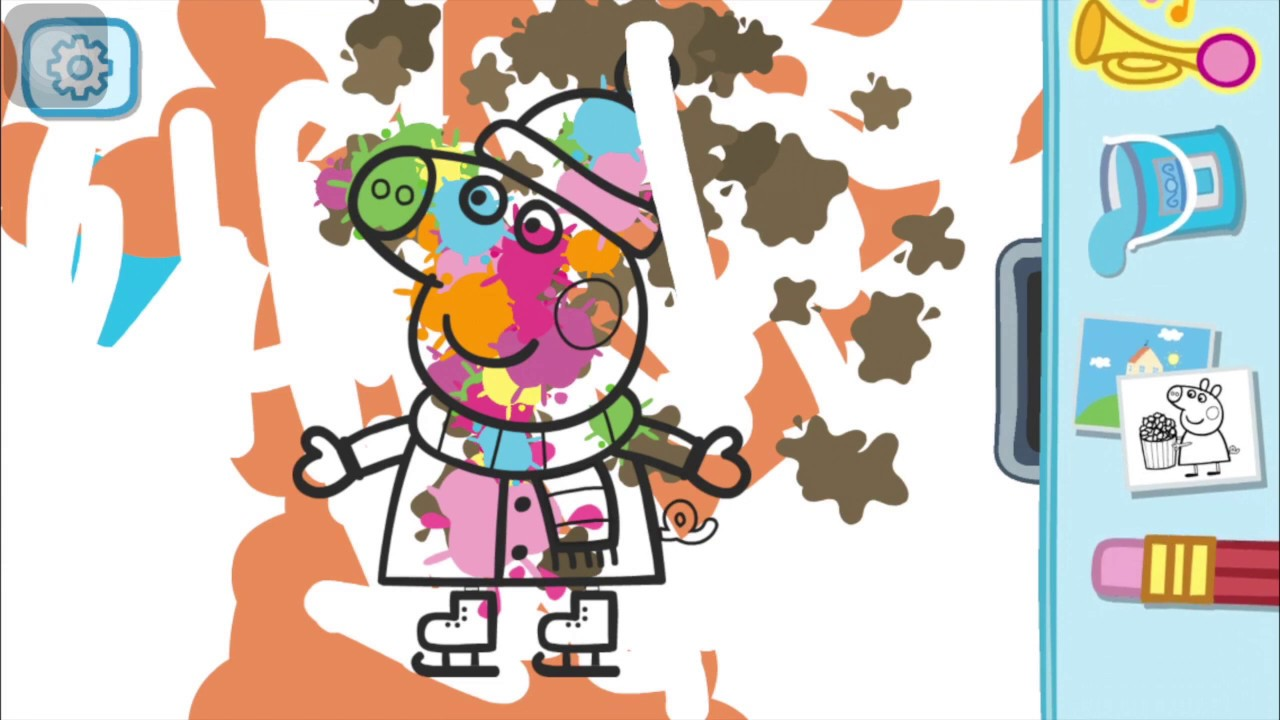 kirana painting peppa pig & jorge with papa