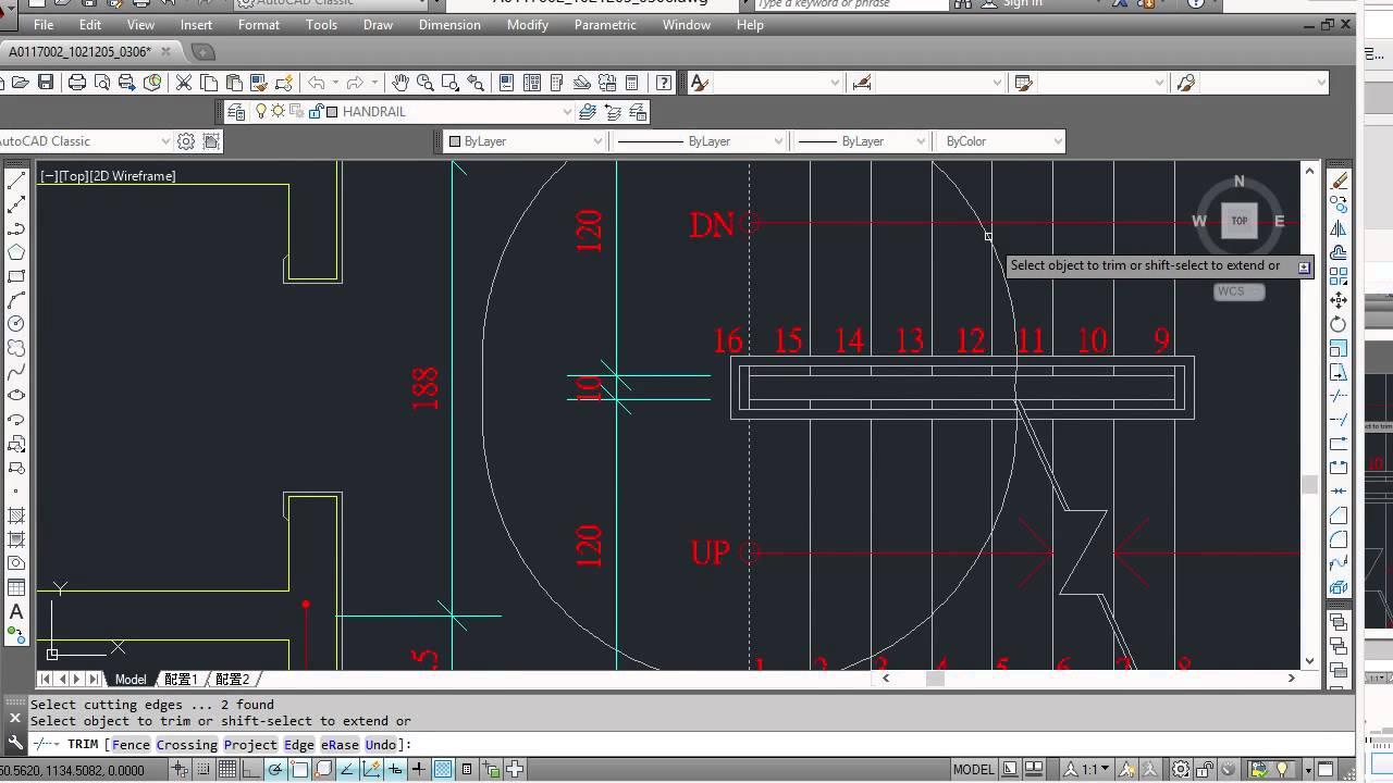 0306 樓梯剖面圖介紹-3 迴轉線 21101 建築製圖應用-電腦繪圖丙級 - YouTube