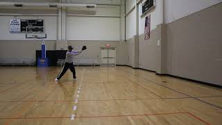 Baseball Wall Drill (far)