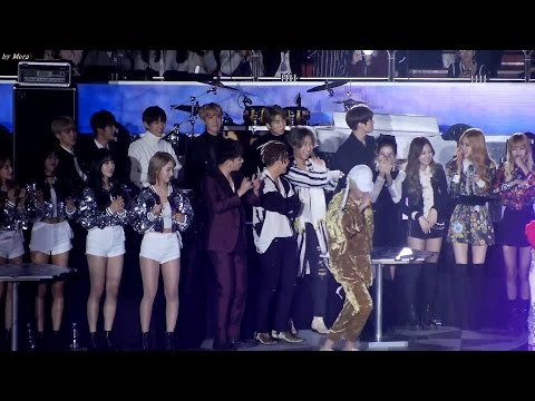 161226 블랙핑크(BLACKPINK),방탄소년단(BTS).빅뱅,AOA  - HIPHOP Stage 무대 리액션 직캠 Fancam (2016 가요대전) by Mera