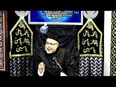 Question And Answer Session Molana Sadiq Hasan  Muharram 1440/2018- Al Mahdi Islamic Centre Toronto