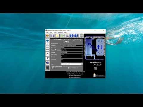 Gasketed Plate heat exchanger design software