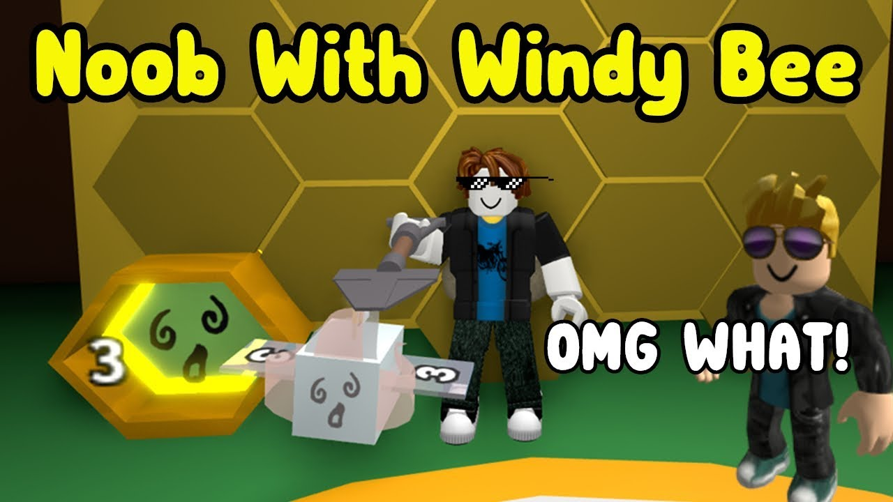 Roblox Bee Swarm Simulator Noob Vs Pro Noob With Windy Bee Made 10 Million Honey In 2 Hours Bee Swarm Simulator Youtube