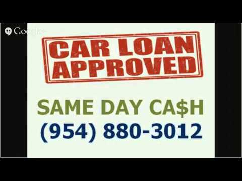 Bad Credit Car Title Loans Pembroke Pines 33024 - CALL 954-880-3012